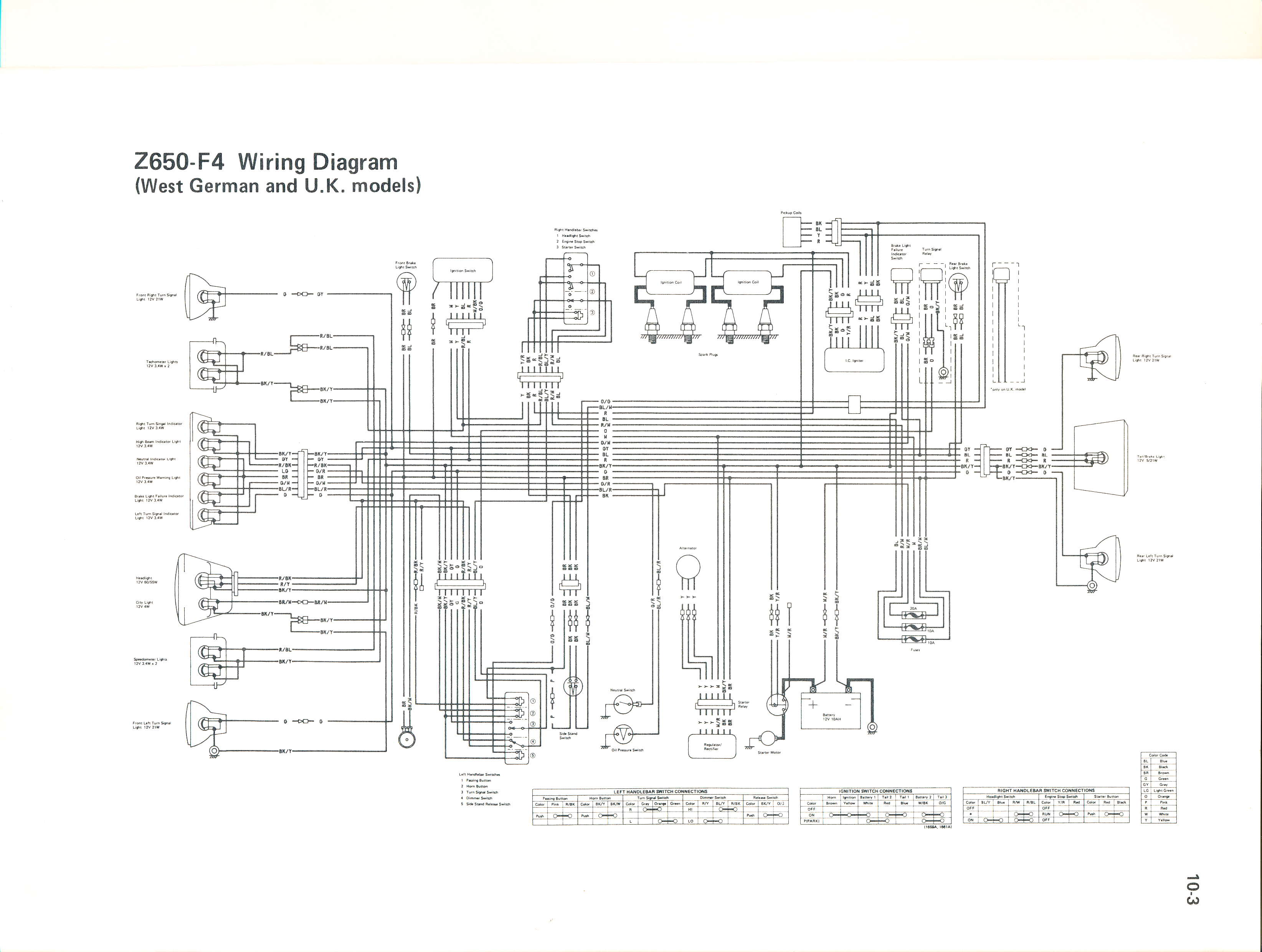 OEM Service Manual Z650 F4 UK Ger wiring diagrams z650 wiring diagram at reclaimingppi.co